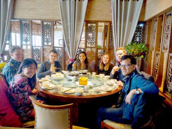 Ужин для учеников LTL Шанхай