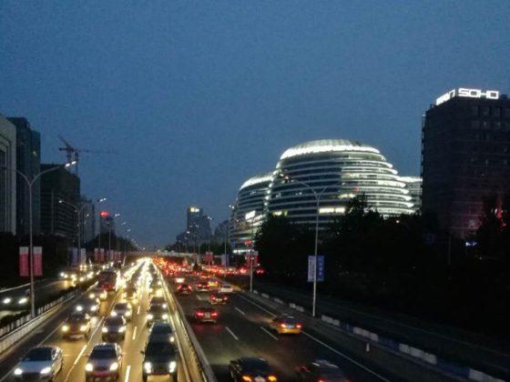 Ночной Пекин - Район Wangjing