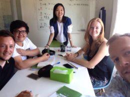 Учите китайский в Пекине - Учитель Люси и ученики