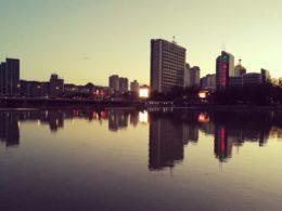 закат в Чендэ