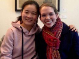 Катрин с учителем Хелен