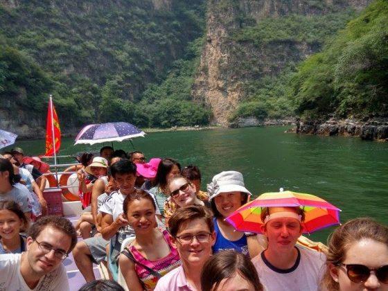 Экскурсия по Чендэ команда LTL и ученики