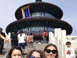 Мария, Жасмин и Кристина на экскурсии по Пекину